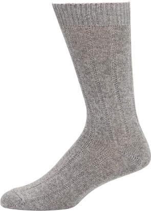 Neiman Marcus Men's Cashmere Ribbed Socks