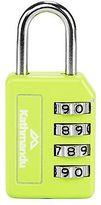 Kathmandu 4 Dial Backpack Luggage Security Password Combilock Padlock Green