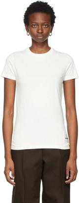 Jil Sander Three-Pack Off-White Logo Patch T-Shirt
