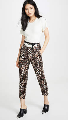 pushBUTTON Leopard Print Pants