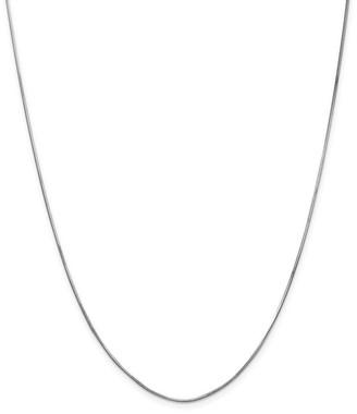 Curata 14k White Gold Solid 1mm Diamond Cut Octagonal Snake Chain