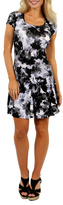 24/7 Comfort Apparel Shadow Flower Dress