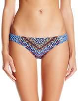 Jessica Simpson Women's Dusty Road Denim-Inspired Side Braided Hipster Bikini Bottom