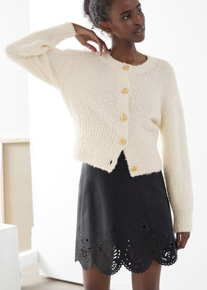 And other stories Boucle Knit Cropped Cardigan