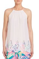 Lilly Pulitzer Diem Silk Halter Top