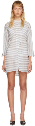 Christina SSENSE Exclusive Grey Short Transparent Dress