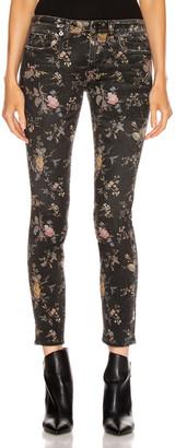 R 13 Kate Skinny in Light Floral Print | FWRD