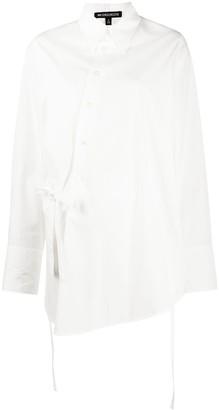 Ann Demeulemeester Asymmetric Button-Down Cotton Shirt