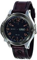 U-Boat Men's Automatic Watch with Black Dial Analogue Display and Brown Leather Strap 7472