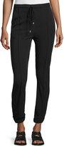 CNC Costume National Drawstring-Waist Skinny Jogger Pants, Black
