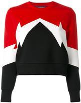 Neil Barrett geometric sweatshirt - women - Cotton/Spandex/Elastane/Lyocell/Viscose - S