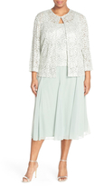 Alex Evenings 4121143 Lace Tea Length Dress with Jacket