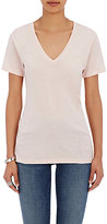 Barneys New York WOMEN'S V-NECK T-SHIRT-PINK SIZE S