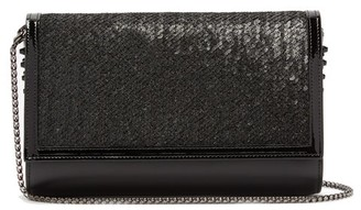 Christian Louboutin Paloma Sequin-embellished Clutch Bag - Black