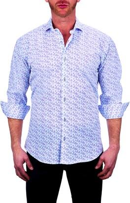 Maceoo Einstein Paisley Stretch Button-Up Shirt