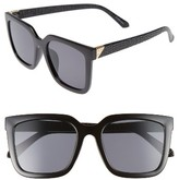Leith Women's Textured Square Sunglasses - Black
