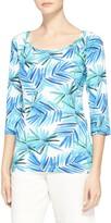 St. John African Palm Print Jersey T-Shirt