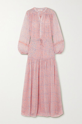 Eywasouls Malibu Leatitia Tiered Floral-print Chiffon Maxi Dress