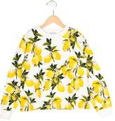 Dolce & Gabbana Girls' Matelassé Lemon Print Top
