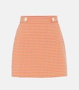 Miu Miu Gingham checked miniskirt
