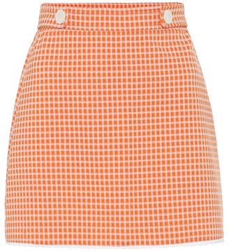 Miu Miu Gingham checked miniskirt