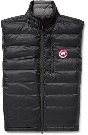 Canada Goose Lodge Packable Quilted Ripstop Down Gilet - Black