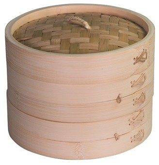 Avanti Set of 2 Bamboo Steamer Baskets 20cm