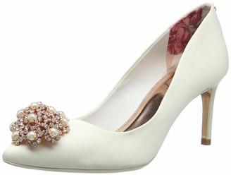 Ted Baker Women Dahrlin Closed Toe Ballet Flats White (Ivory) 5 UK (38 EU)