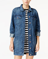 GUESS Longline Dark Blue Wash Denim Jacket