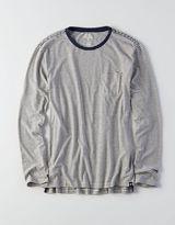 American Eagle AEO Long Sleeve Indigo T-Shirt