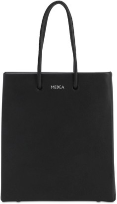 Medea Short Leather Top Handle Bag