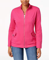 Karen Scott Zip-Front Active Jacket, Created for Macy's