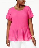 NY Collection Plus Size Pleated Top