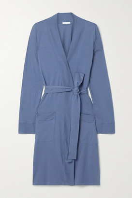 Skin Odiana Pima Cotton-jersey Robe - Blue