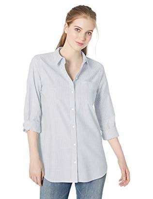 Daily Ritual Broken-in Cotton Relaxed Boyfriend Shirt Button,(EU M - L)