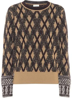 Dries Van Noten Jacquard merino wool-blend sweater