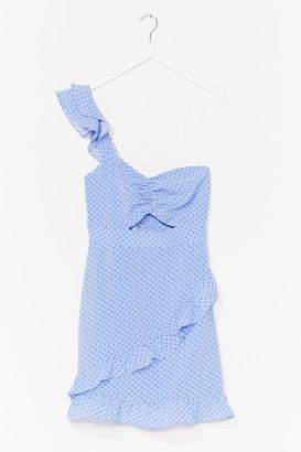 Nasty Gal Womens Spot the One Shoulder Mini Dress - Blue - 4, Blue