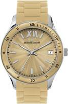 Jacques Lemans Ladies Rome Sports Wrist Watch with Beige Silicone Strap