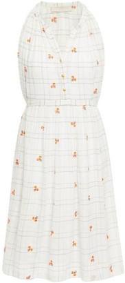 Vanessa Bruno Embroidered Checked Cotton And Lurex-blend Mini Dress