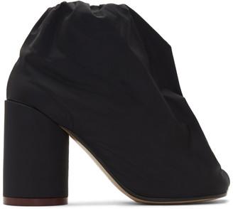 MM6 MAISON MARGIELA Black Nylon Gathered Boots