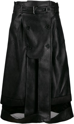 Maison Margiela Deconstructed Faux-Leather Skirt