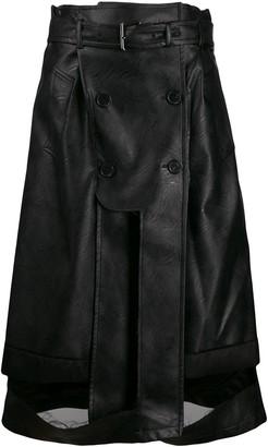 Maison Margiela deconstructed faux-leather skirt