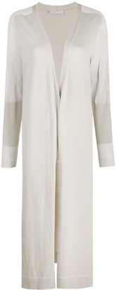 Fabiana Filippi Contrast Sleeve Mid-Length Cardigan