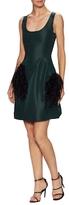 Prabal Gurung Silk Trimmed Scoopneck Flared Dress