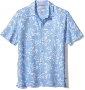 Tommy Bahama Napali Palms Short Sleeve Pique Button-Up Shirt