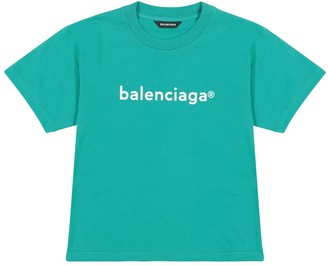Balenciaga Kids Logo cotton jersey T-shirt