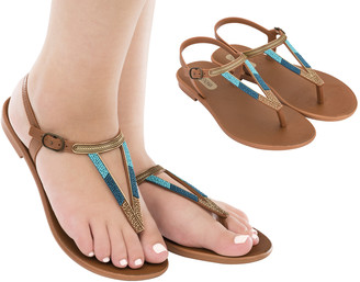 Luxury Bubble - Tan Rustic Sandal - 35-36