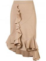 Givenchy ruffle midi skirt