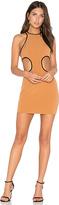 NBD x REVOLVE Small Talk Mini Dress in Brown. - size L (also in M,S,XL,XS)