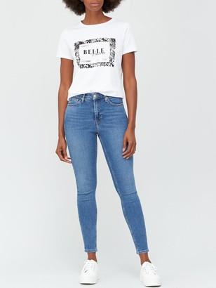 Very Premium High Waist Skinny Jean -Mid Wash